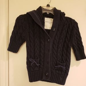 Girls A&F short sleeve button up sweater